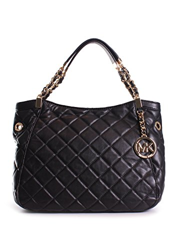 Michael Kors Susannah Medium Shoulder Tote in Black