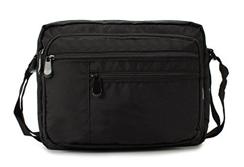 Scarleton Multi Pocket Nylon Crossbody Bag H1611