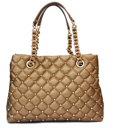 Scarlet Shoulder Bag – Black – Handbags – Gold Shoulder Bags for Women – Designer Fashion Bag