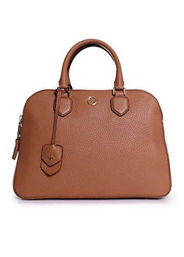 Tory Burch Robinson Pebbled Triple Zip Tote in Tiger's Eye