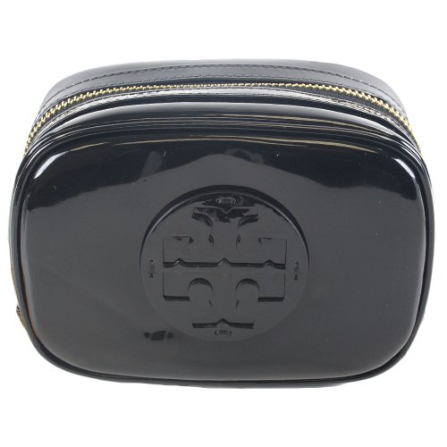 Tory Burch Patent Leather Small Cosmetic Case Bag Black