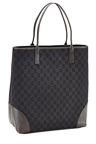 Gucci Medium Monogram Logo Brown Jacquard Tote Shopper Bag