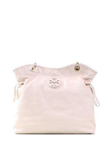 Tory Burch Marion Slouchy Tote in New Ivory