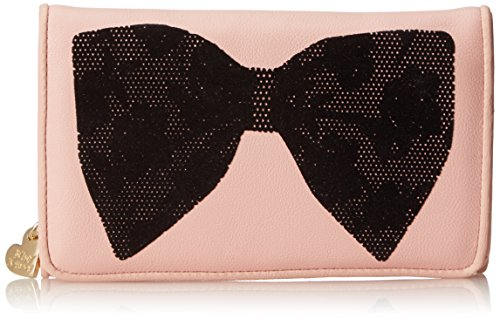 Betsey Johnson Flock-A-Bows Wallet On A String