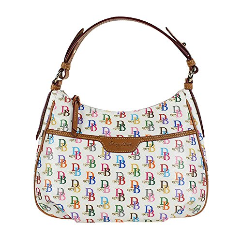 Dooney & Bourke Signature IT Leather Trim Hobo Handbag