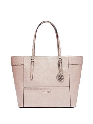 GUESS Women's Delaney Rose Gold Medium Classic Tote