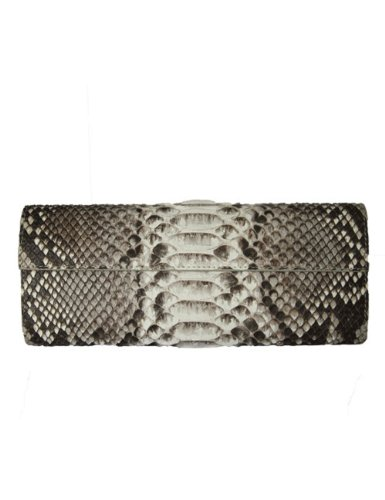 Genuine Natural Python Clutch By Real
