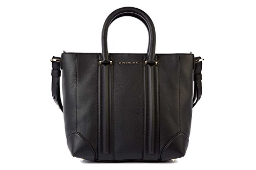 Givenchy women's leather handbag shopping bag purse lucrezia black