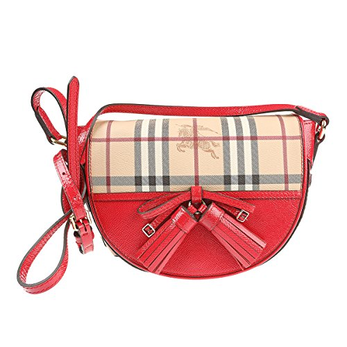 Burberry 3903247 Haymarket Patent Colours Small Maydown Crossbody Bag