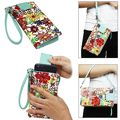 JAVOedge Spring Blossom Universal Pullout Phone Wallet for Smartphones (Fits up to 5.5″ Size)