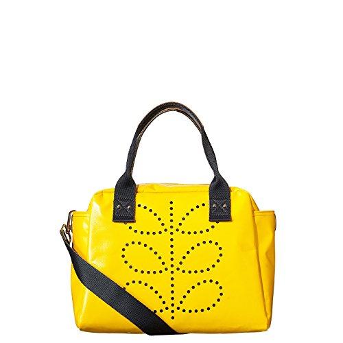 Orla Kiely Etc Punched Zip Tarpaulin Zip Top Tote Handbag Bag