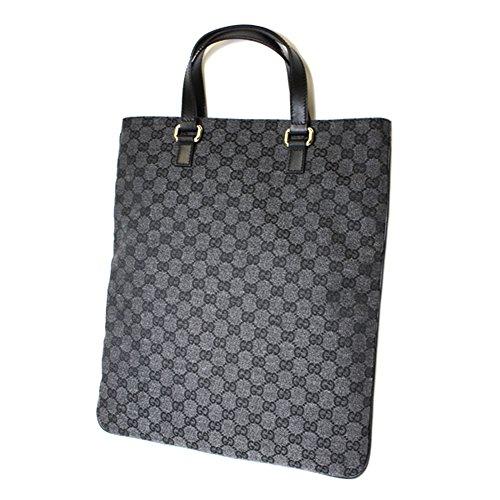 Gucci Black GG Canvas and Leather Portfolio Tote Bag