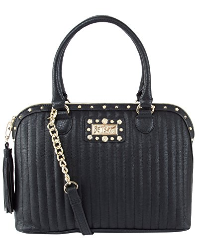 Betsey Johnson Pretty In Punk Dome Satchel – Black