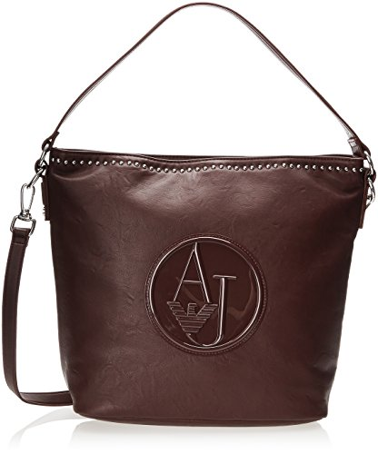 Armani Jeans ZY Studded Convertible Hobo, Bordeaux, One Size