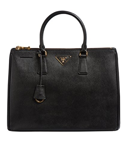 Prada 1786 Authentic Bag-Black Nero Saffiano Lux Calf Leather Handbag