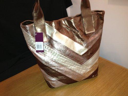Elliott Lucca Genuine Textured Leather Copper & Bronze Handbag – New with Tag
