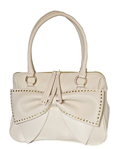 Betsey Johnson Bow Regard EW Dome Satchel Purse Shoulder Bag Handbag