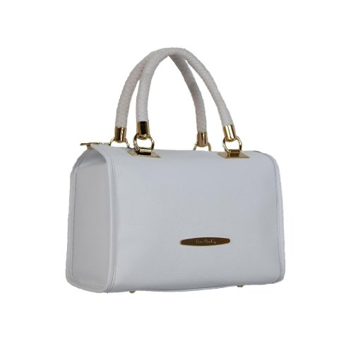Pierre Cardin PC 1315 BIANCO Made in Italy Leather White Speedy/Shoulder