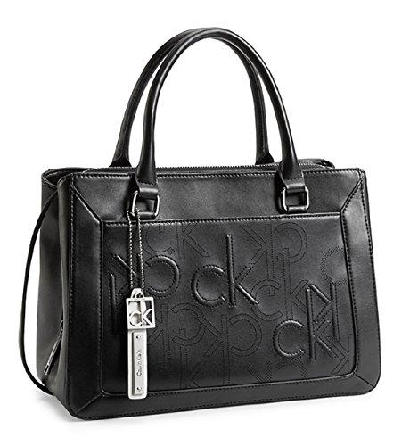 Calvin Klein Kenzie City Center Zip Carryall Bag Handbag (Black)