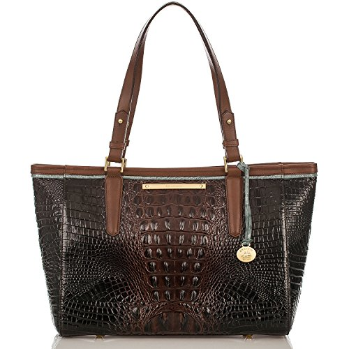 Brahmin Medium Arno Tote Bag in Croco Embossed Leather