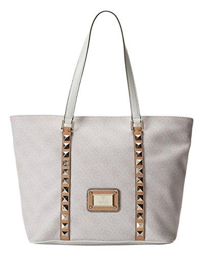 GUESS Logo Remix Tote Bag, Cement