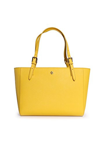 Tory Burch York Small Buckle Tote in Sunshine