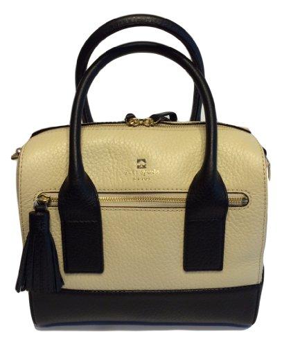 Kate Spade Southport Avenue Alessa Buttermilk/Black Handbag WKRU1801