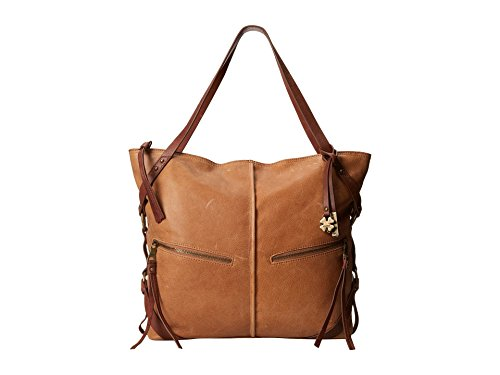 Lucky Brand Delta Leather Travel Tote, Cognac/Brandy