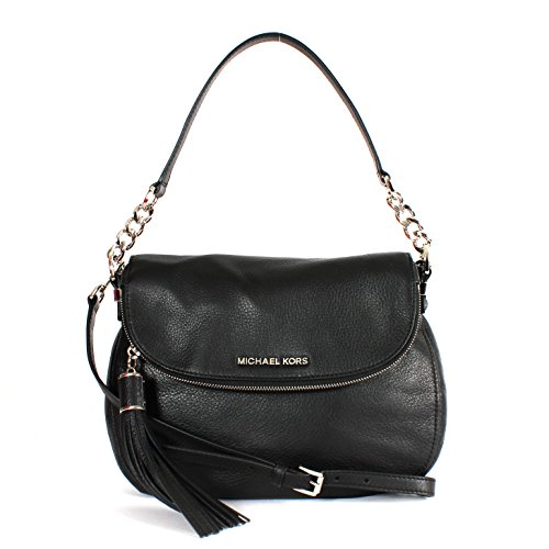 Michael Michael Kors Bedford Medium Convertible Shoulder Bag Black Leather New