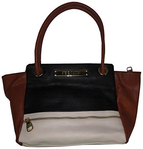 Steve Madden Purse Handbag BCharley Color Block Tote Black Multi
