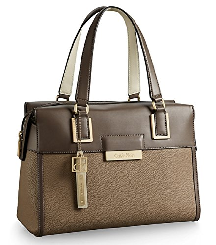 Calvin Klein Womens Valerie Bowler Satchel Handbag