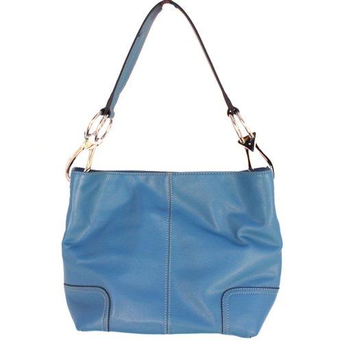 Tosca Classic Medium Shoulder Handbag,Medium,True Blue