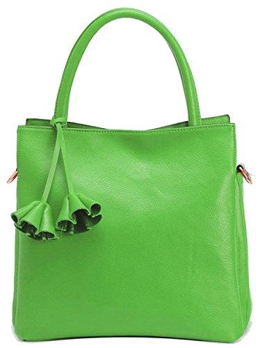 Heshe Ladies 2015 New Classic Soft Genuine Leather Tote Cross Body Shoulder Bag Handbag