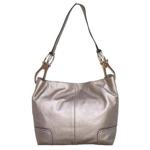 Tosca Classic Medium Shoulder Handbag,Medium,Pewter