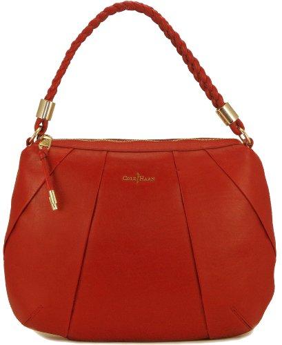 Cole Haan Womens Adele Hobo Shoulder Bag, Velvet Red, One Size
