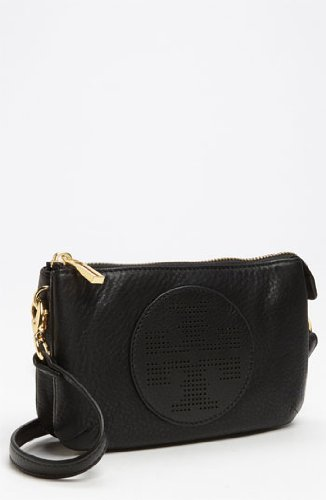Tory Burch Kipp Black Small Crossbody Leather Gold New