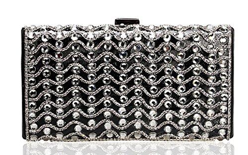 KISS GOLD(TM) Bling Crystal Diamante Rectangle Evening Clutch Bag Wedding Purse