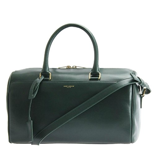 Saint Laurent Classic Duffle 6 Bag in Dark Green Calfskin Leather and Suede