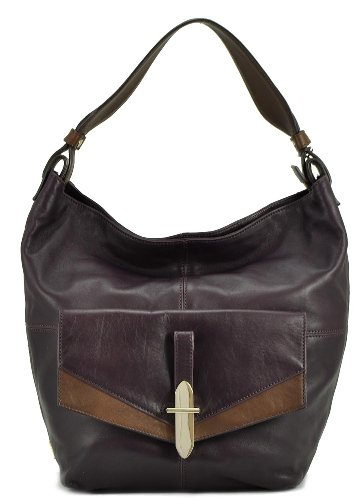 Kooba Women's Bedford Leather Shoulder Bag, Plum, One Size