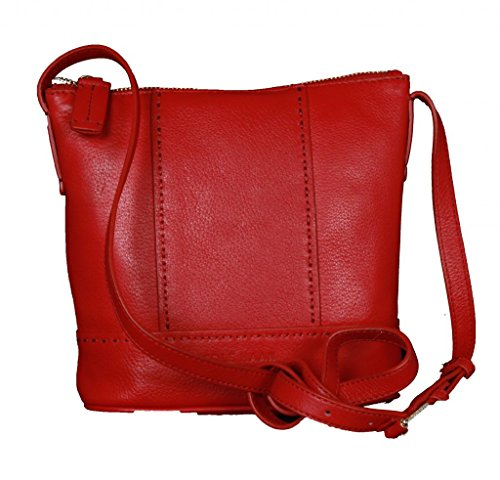 Cole Haan Garnet Mini Bucket Leatehr Crossbody Bag Red B45429