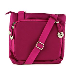 Travelon Small Shoulder Bag w/ Embroidery (Fuchsia)