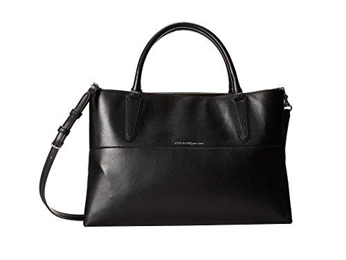Coach Soft Borough Bag in Black Leather