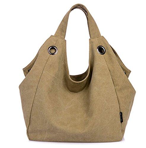 KISS GOLD(TM) Simple Style Womens Vintage Canvas Totes Hobo Bag Shoulder Bag