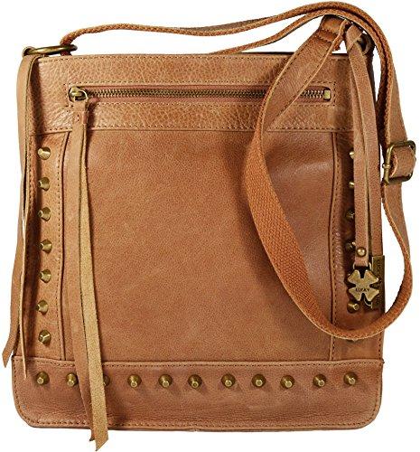 Lucky Brand Studded Leather Cross-body Shoulder Bag