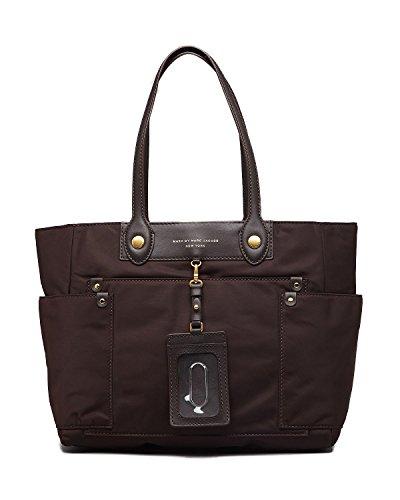 MARC by Marc Jacobs Preppy Nylon Clara Zip Tote Handbag Brown