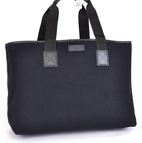 Gucci XL Woven Cotton Leather GG Guccissima Tote Shopper 289626