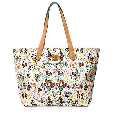 Dooney & Bourke Disney Sketch Large Zip Shopper Handbag Multi