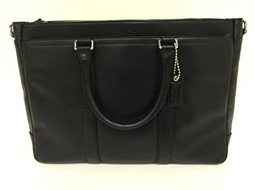COACH LEXINGTON LEATHER EXECUTIVE TOTE, BLACK, #F70916