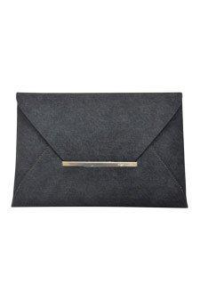 Bcbgeneration Harlow Denim Envelope Clutch-Black Bag