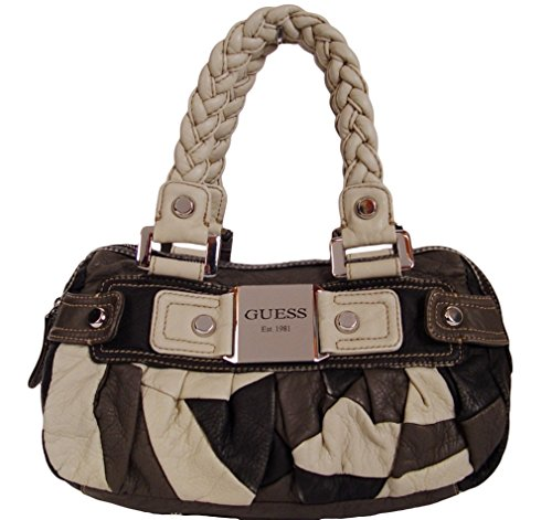 GUESS Bethany Satchel Bag Handbag Purse (Black Multi)